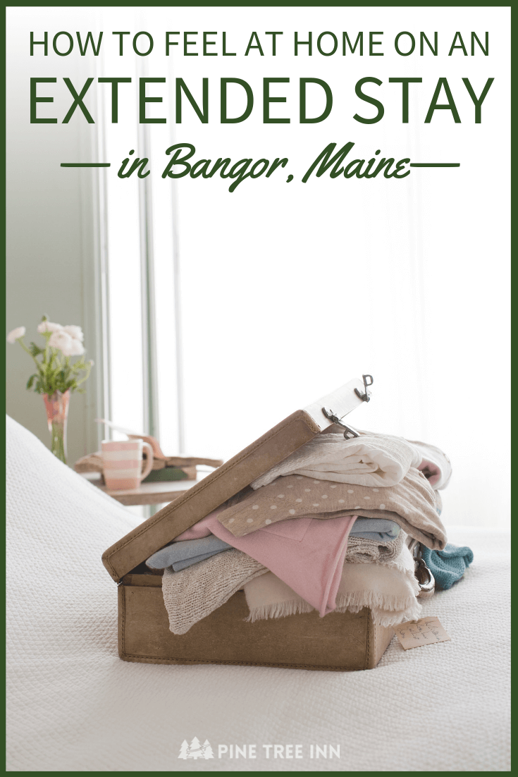 Planning an extended stay in Bangor, Maine? It can be challenging to keep a routine on work trips. Whether you're a travel nurse or have a long business trip, this guide has 8 essential tips to help you settle in and feel at home while traveling. #business #travel #nurse #maine #extendedstay #businesstrip